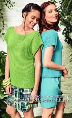 свитер спицами для начинающих