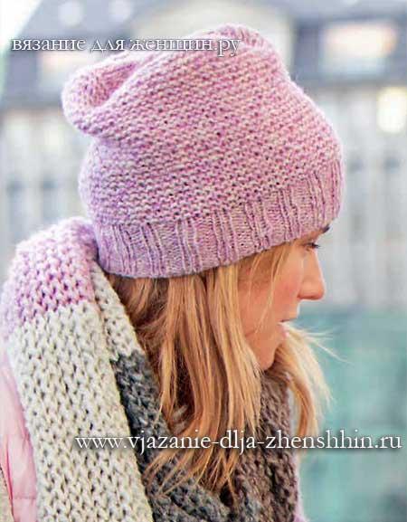 Вязание для начинающих простой женской шапки спицами