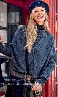 Вязаные пуловеры и джемпера спицами