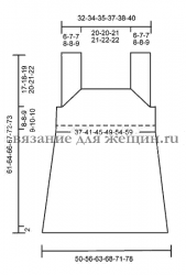 Летний ажурный топ схемы вязания спицами