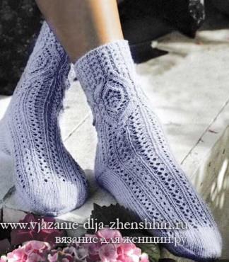 Красивые носки спицами схемы