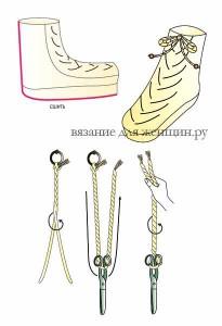 Носки с косами вязание спицами