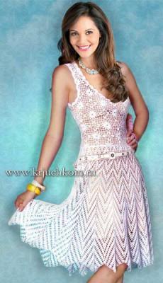Вязаное летнее платье