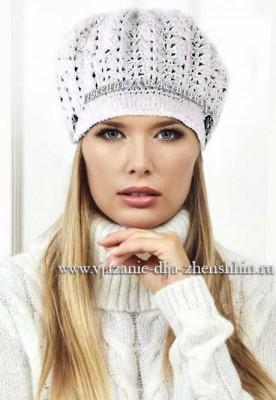 Модные вязаные шапки крючком