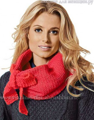 вязаный шарф для женщин