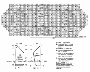 Схема вязания узора с аранами