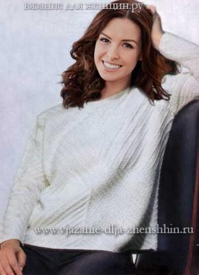 Вязание свитера спицами с описанием и схемой