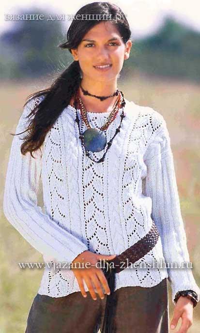 Вязание спицами платьев и туник для женщин