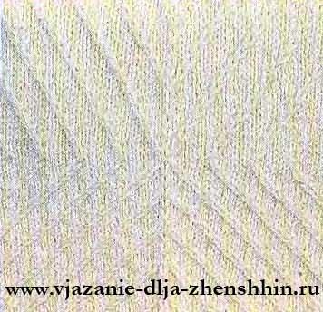 Узор вязаного свитера спицами