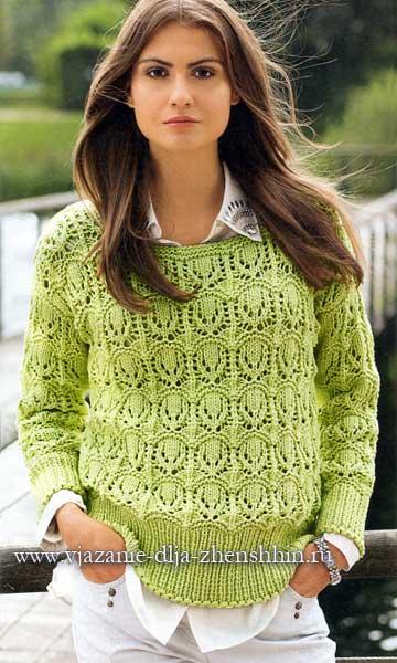 пуловеры спицами