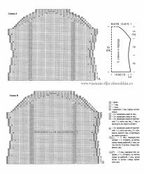 Схема вязания спицами летнего топика для женщин