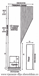 выкройка трикотажного жакета