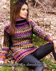 женский свитер спицами с описанием
