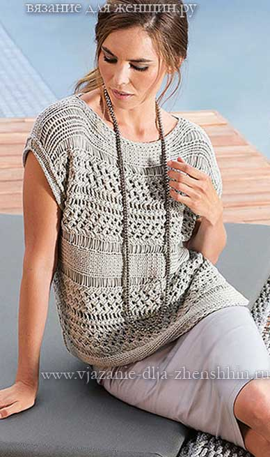 Модели пуловеров, джемперов и свитеров спицами - KnitWeek