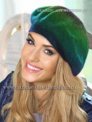 Модные модели вязаных шапок и беретов 2016