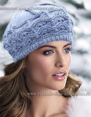 Женские шапки вязание спицами
