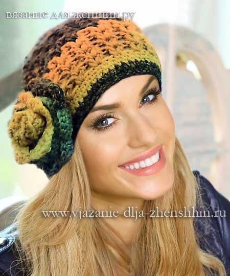 Схема вязания шапки для женщин