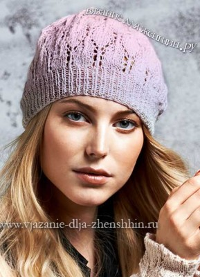 Вязание спицами шапки для женщин