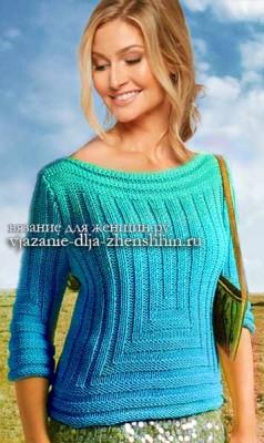 dzhemper-spicami Вязание спицами для женщин. Схемы вязания для женщин 100 моделей