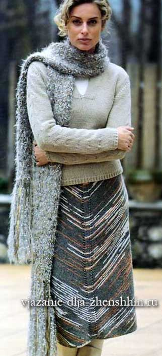 юбки спицами вязаные юбки спицами 19 схем и описаний вязания для