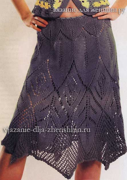 c00e9191ba5 Юбки спицами - схемы вязания юбок спицами для женщин с описанием