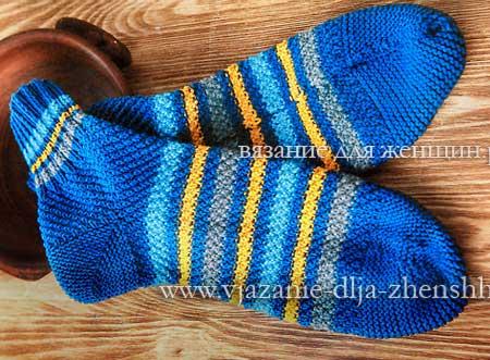 простые носки на 2 спицах для начинающих