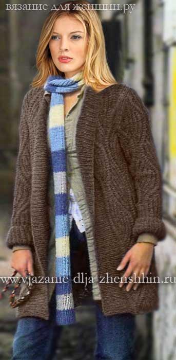 модное вязаное пальто спицами 2018 вязание пальто