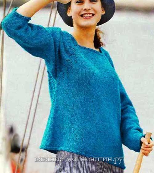 вязаные пуловеры для женщин спицами с описанием более 20 схем