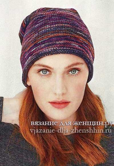 шапки спицами для женщин с описанием и схемами вязания спицами