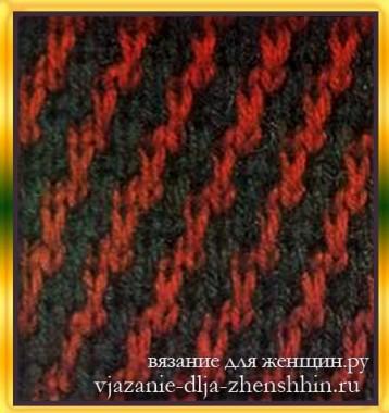 dvuhcvetnyj-uzor-spicami-4 Огромный мир двухцветных узоров для вязания спицами