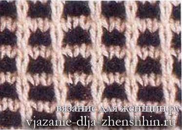 dvuhcvetnyj-uzor-spicami-5 Огромный мир двухцветных узоров для вязания спицами