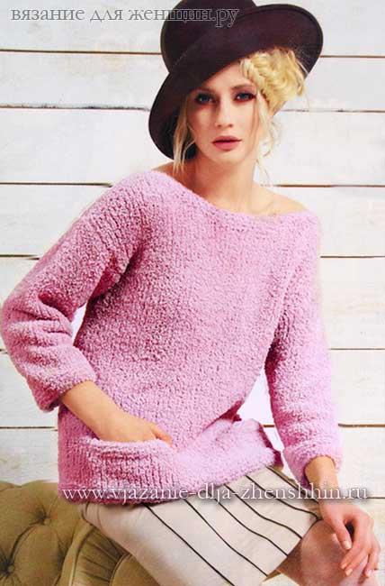 вязание спицами для начинающих пуловер