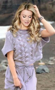 originalnaja-letnjaja-koftochka-spicami Вязаные кофты спицами 15 модных моделей для женщин с описанием