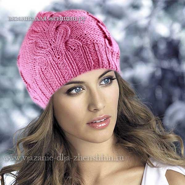 шапки и береты спицами вязание спицами схемы вязания