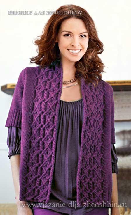 вязание спицами для женщин описания и 100 схем вязания спицами